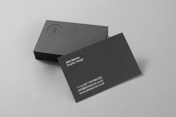 New Arrival Debossed Printing Custom Business Cards Black Card Paper 600gsm Name High Quality Whole