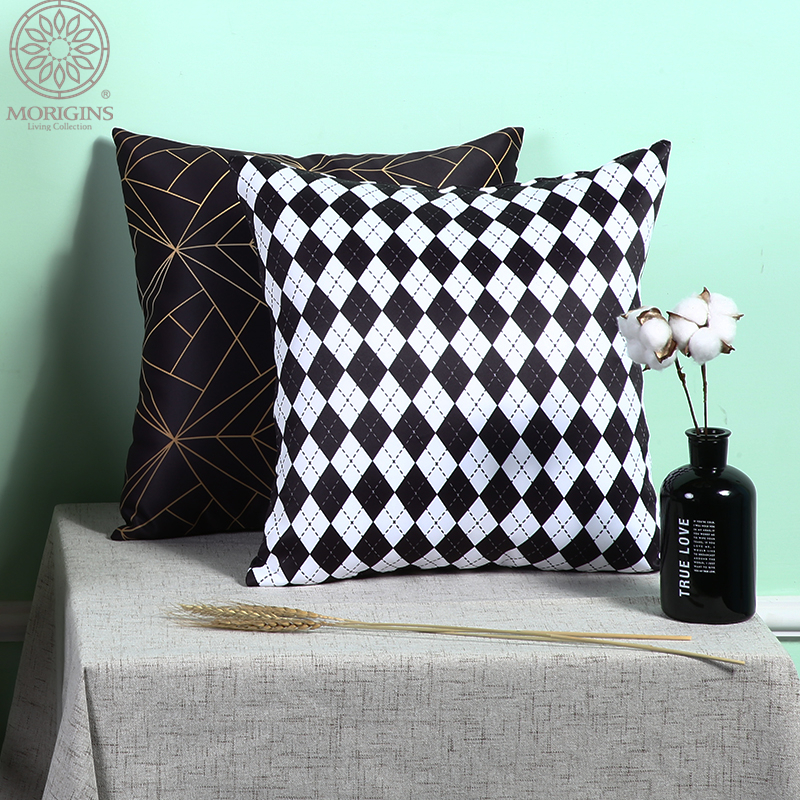 Morigins 2018 New Fashion Women 39 s Pillow Cases Geometric Pillowcase Cotton Pillow Cover Bedroom 18x18 Inches Home Pillowcase N2 in Pillow Case from Home amp Garden