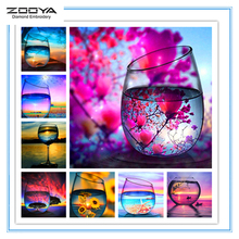 ZOOYA Diamond Embroidery Glass Mandala Abstract Diy Painting Pattern Rhinestones Sale Mosaic Needlework RF1952