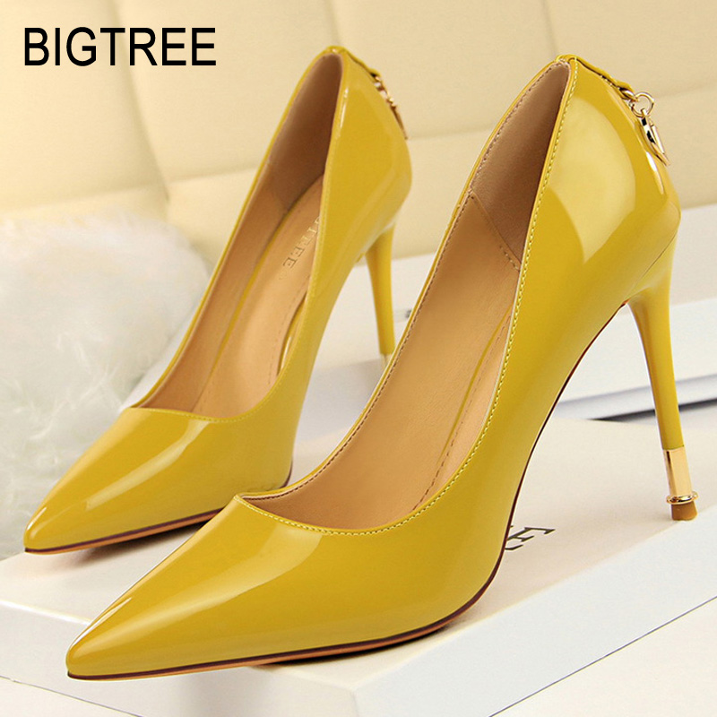 Bigtree Shoes Women Pumps Patent Leather Women Shoes Spring High Heels Women Wedding Shoes Fashion Kitten Heels Party Shoes PinkBigtree Shoes Women Pumps Patent Leather Women Shoes Spring High Heels Women Wedding Shoes Fashion Kitten Heels Party Shoes Pink