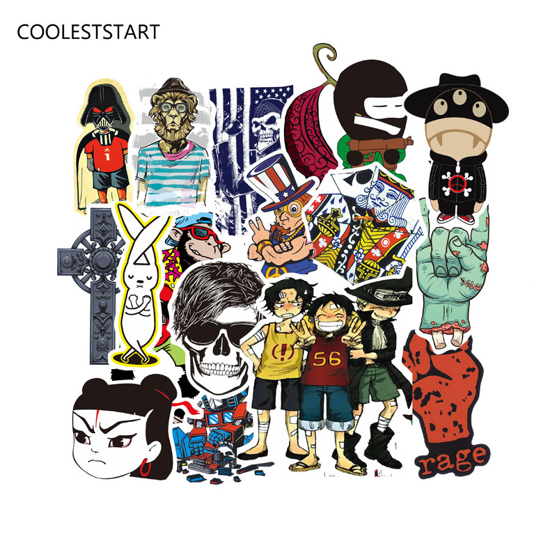50-100pcs Mixed Funny Brand Laptap Stickers For Home Decor Jdm On Laptop Sticker Decal Fridge Skateboard Doodle Toy