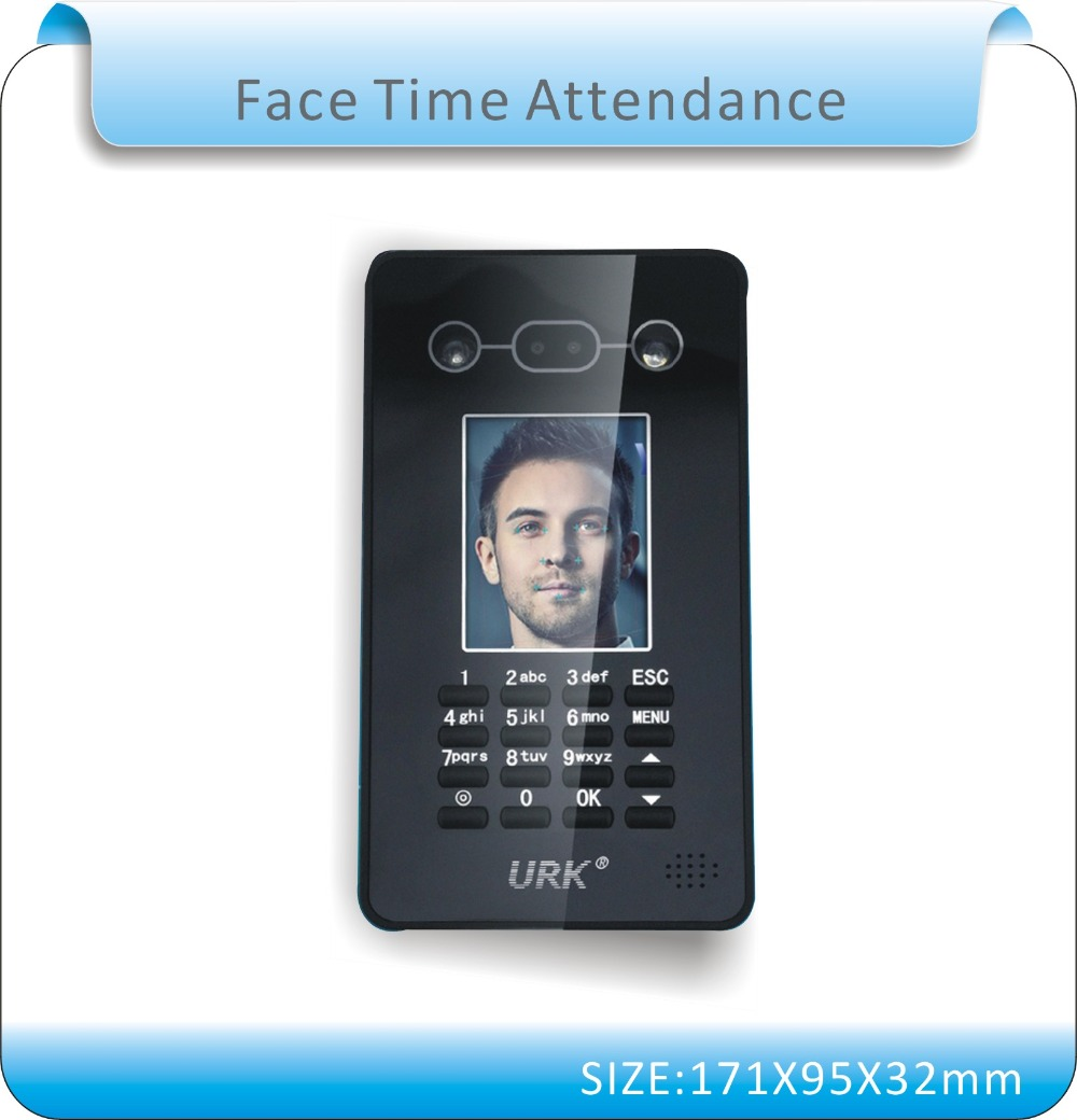 Free shipping Biometric face Time Attendance Clock Recorder Employee Digital Electronic English  Voice Reader /U-disk download