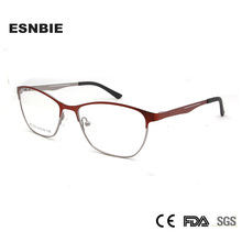 ESNBIE Alloy Frame Glasses Women Optical Luxury WomenS Eyeglasses Prescription Eyewear Woman  Spectacle Rim