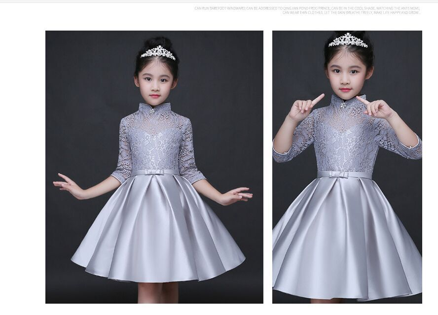 HTB10m5NQFXXXXXHapXXq6xXFXXXj - Baby Girl Kid Evening Party Dresses For Girl Wedding Princess Clothing 2017 New Solid Color Bow Moderator Dress Children Clothes