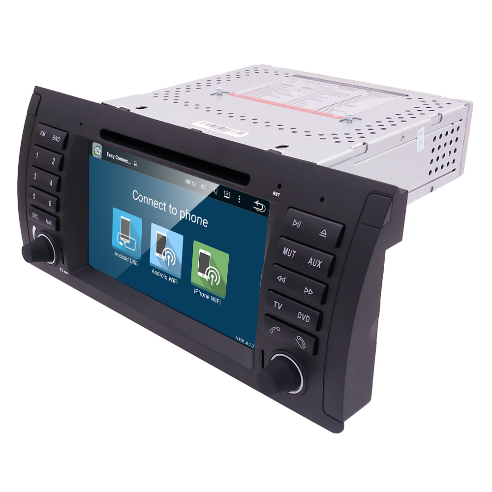 Android quad core gps navigation 7 car dvd player for bmw e39 5 series 97