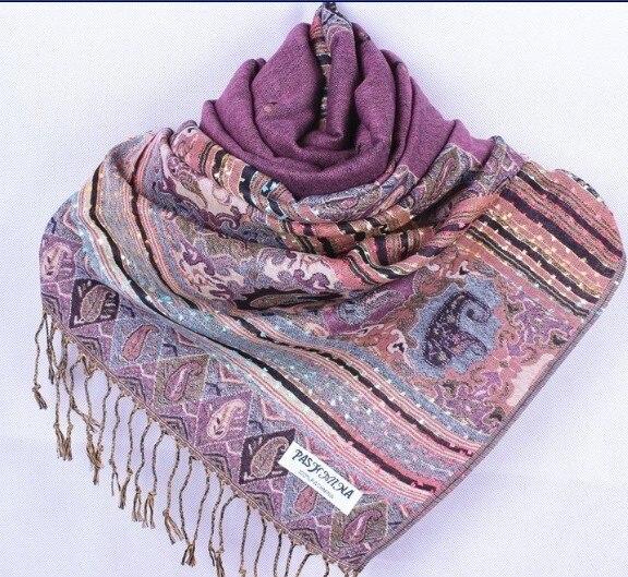 Fashion Rubber red Women's Silk Pashmina Shawl Scarf Wrap honeybee flower Free Shipping Wholesale Retail FF-XMF10