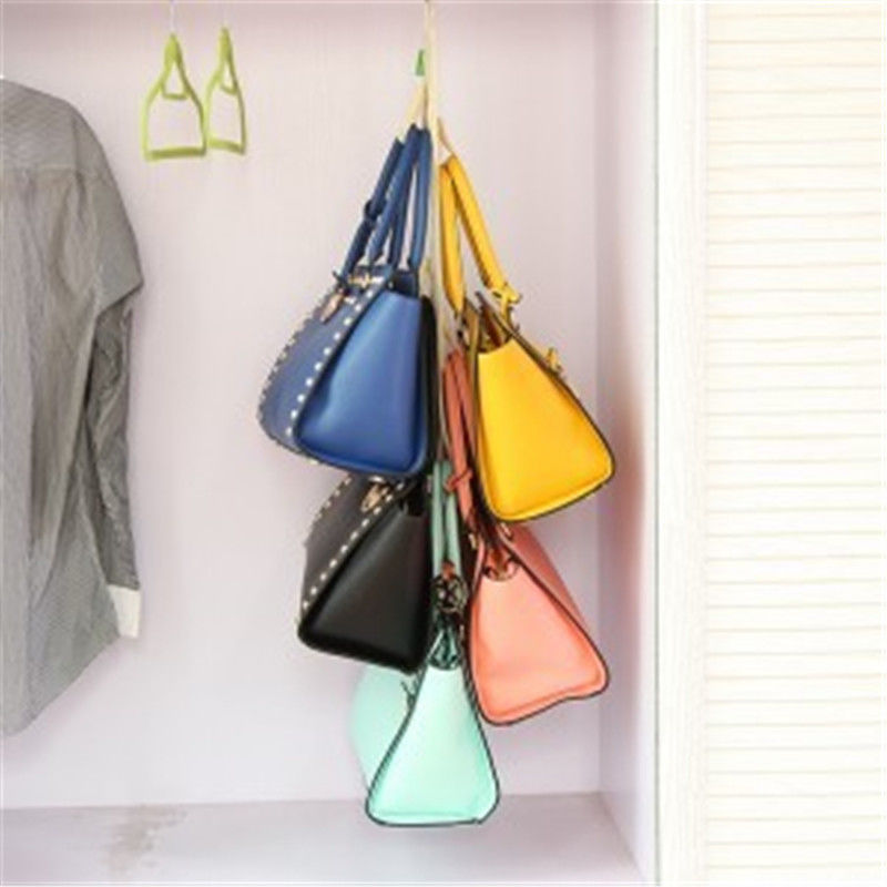 1pc 4 hooks handbag purse bags holder shelf hanger hanging rack storage