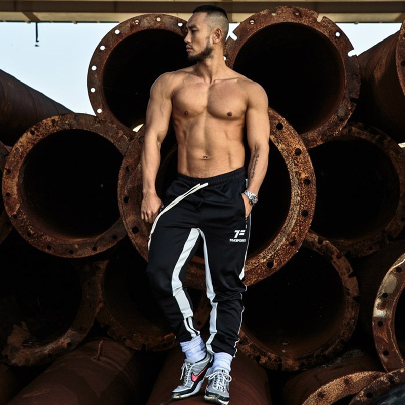 2019 spring and summer time new informal health jogging pants males's cotton slim twill cotton pants style pants males's model clothes Informal Pants, Low cost Informal Pants, 2019 spring...