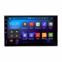 Universal 2 Din GPS Navi headunit Radio WIFI Quad Core Android 5.1.1 Cabeza dispositivo de Audio Estéreo RDS navegador mapa Gratuito