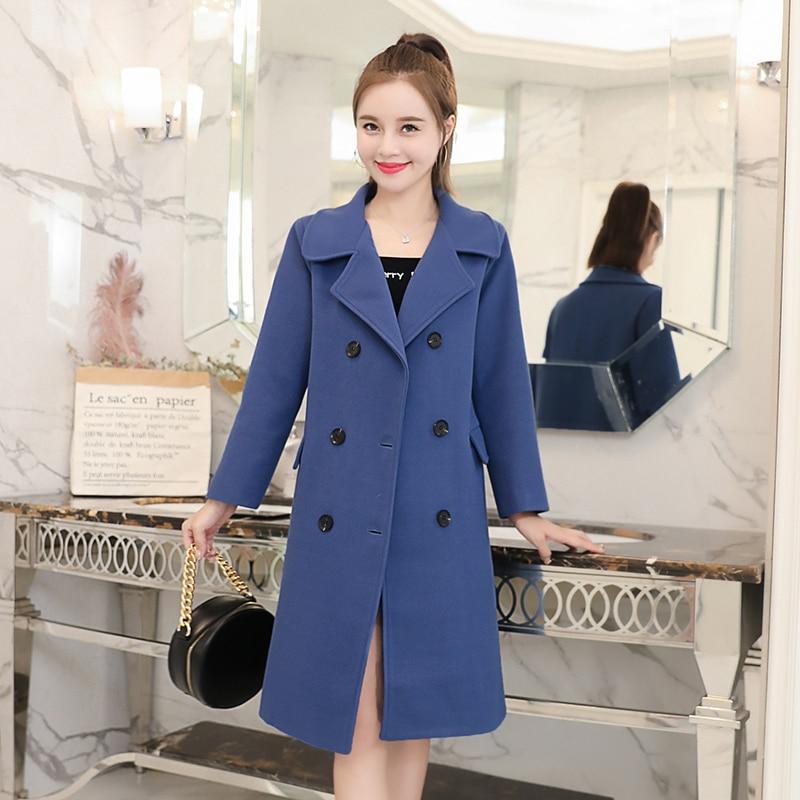 Winter Women Coat Korean Fashion Woman Double Cashmere Jacket Plus Size Elegant Women Cotton Wool Jacket Woman Coats Winter 2019 in Wool amp Blends from Women 39 s Clothing