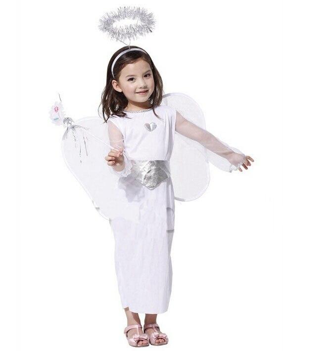 puesta en escena de halloween fiesta de disfraces de tela vestido con grandes alas de ngeles de nieve vestido de princesa de co