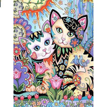 Full Square/Round Drill 5D DIY Diamond Painting Cartoon cat Embroidery Cross Stitch  Home Decor Gift dispaint full square round drill 5d diy diamond painting cartoon doll embroidery cross stitch 3d home decor a10549
