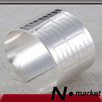 100pcs Chinese Style Open Silver Gold Round Kitchen Serviette Decoraiton Hotel Napkin Ring Table Napkin Holder