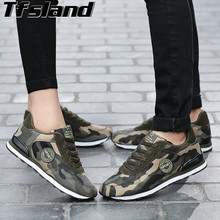 Tfsland Men Women Desert Digital Camouflage Military Shoes Breathable Soft Canvas Shoes Zapatillas Hombre Running Shoes