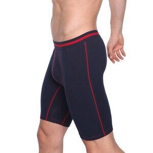 Image 3 - 4 개/몫 남자의 긴 underwears 복서 코튼 underpant 품질 속옷 팬티 플러스 크기 복서 반바지 부드러운 편안한 라운지