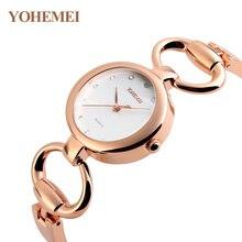 YOHEMEI Marque Montre De Luxe Femmes De Mode Rose Bracelet Montre Simple Cadran Robe Bijoux Horloge T-shirts Décontractés Quartz montre Relogio