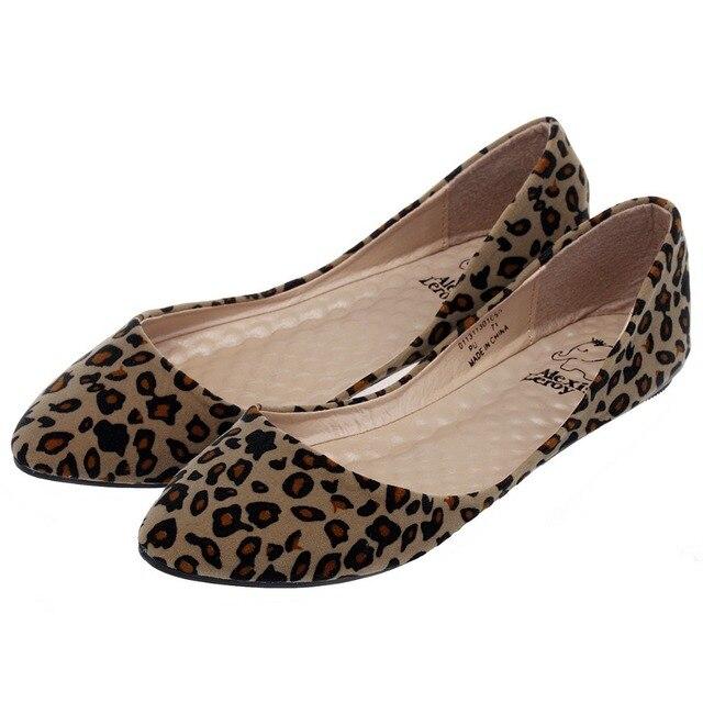 9718d81cc5f3 Alexis Leroy Women's Sexy Leopard Design Low Top Ballet Flats Shoes ...