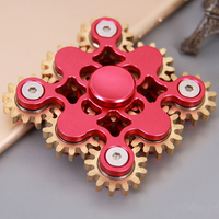 EDC Fidget Spinner Nine Gears Linkage Hand Finger Spinner Metal For Autism And ADHD Focus Anxiety