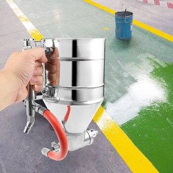 b2906687a32 Herramienta de textura de pintura de PISTOLA DE PULVERIZACIÓN de tolva de  aire de 3500 ml pulverizador de pintura de yeso con 6 boquillas rociador de  aire ...