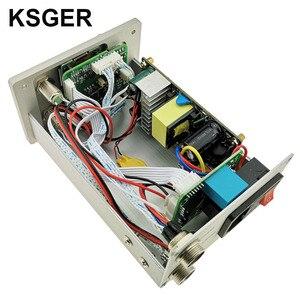 Image 2 - KSGER 2 In 1 T12 STM32 OLED 납땜 스테이션 핫 에어 건 SMD 건조기 디지털 재 작업 디 솔더링 수리 도구 알루미늄 합금 핸들