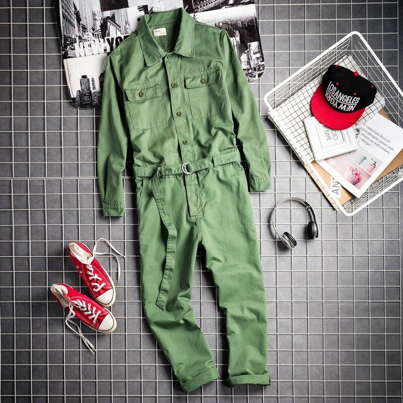 Mâle Lâche Décontracté Multi Défilé Salopette Europe Amérique Outillage Rétro Nouveau poche De Et 2019 Mode Hommes dxBeCo