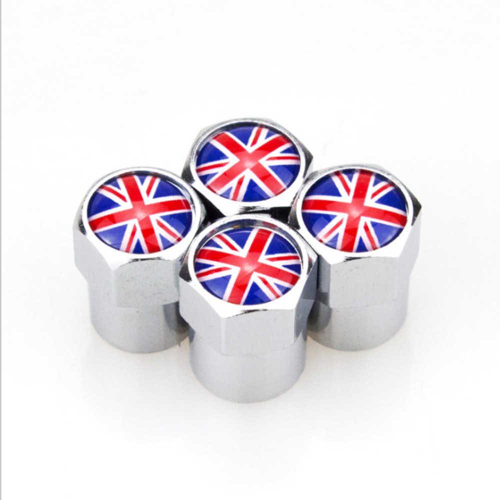 4 X Kreatif UK Flag Logo Mobil Aksesoris Logam Roda Ban Tutup Katup Penutup untuk Mini Cooper Coupe Cabrio Mini satu Mini Series