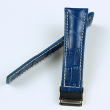купить Genuine Leather Watch bands For NAVITIMER SUPEROCEAN AVENGER Watch Strap 20MM 22MM 24MM Black Blue Brown Watchband With Logo по цене 1673.87 рублей