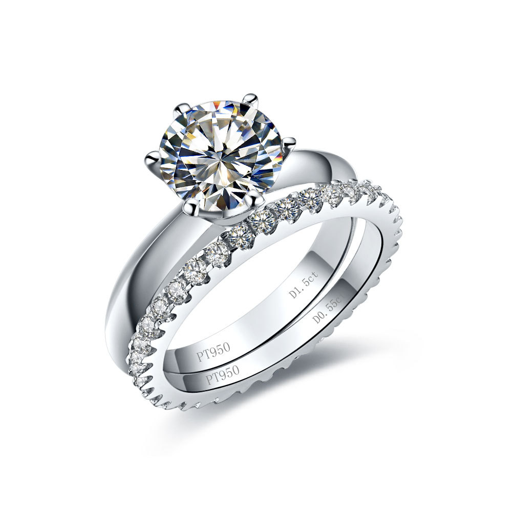 BTJKK bridal wedding ring sets Amazon com 3 47 Ct Round shape Cubic Zirconia Cz Solitaire Bridal Engagement Wedding 3 Piece Ring Set Center Stone Is 2 75 Cts Jewelry