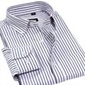 Men Shirt 2017 Autumn And Winter New Oxford Textile Fabric Striped Shirt Men Long Sleeve Turn-down Collar Plaid Shirt Size 4XL