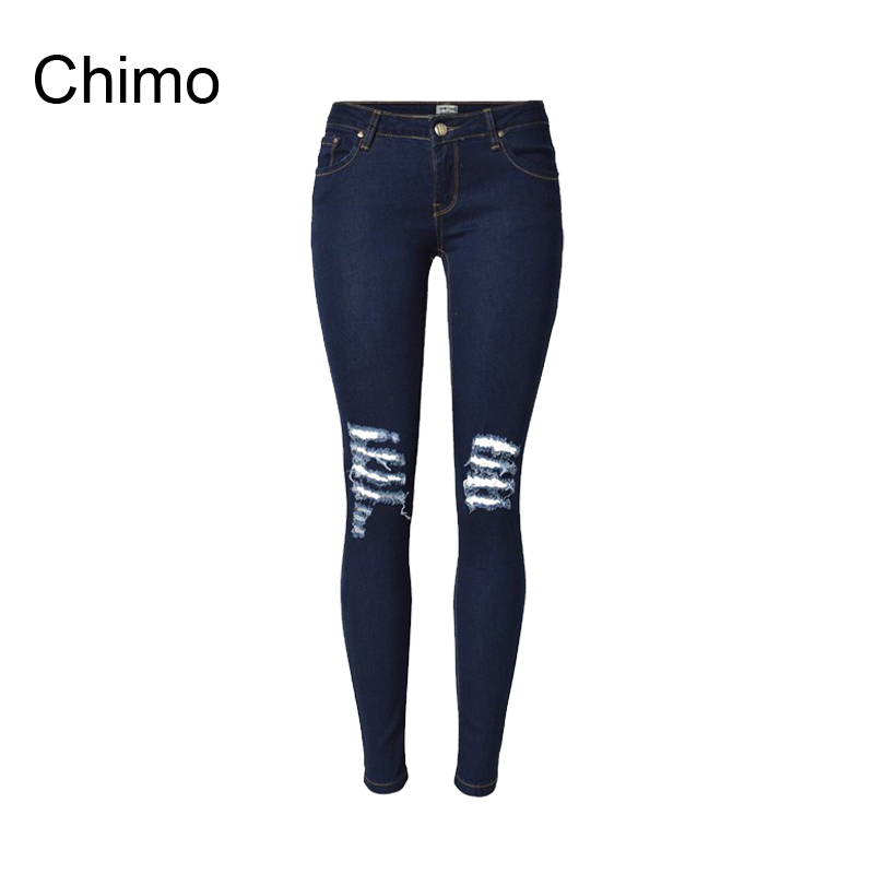 2017 Fashion Casual Women Vintage Low Waist Skinny Denim Jeans Ripped Pencil Jeans Hole Pants Female Sexy Girls Trousers free shipping ux25951 rear replacement projection tv lamp with housing for hitachi 50vs69 50vs69a 55vs69 projetor luz lambasi