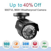 SANNCE 900TVL CCTV de Alta resolución de Cámara de Corte IR 24Led Hora Día/Visión Nocturna IP66 Bala Al Aire Libre Cámara de Vigilancia de vídeo