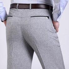 Sommer Männer Anzug Hosen Mens Silk Hosen Marke Business männer Hose Westlichen Stil Hosen Formale Hochzeit Kleider Größe 30-40