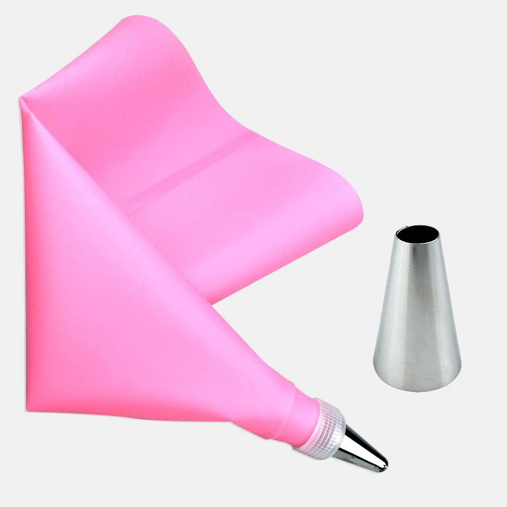3PCS/Set Silicone Icing Piping Cream Pastry Bag + 1 PCS Stainless Steel Nozzle Pastry Tips Converter DIY Cake Decorating Tools