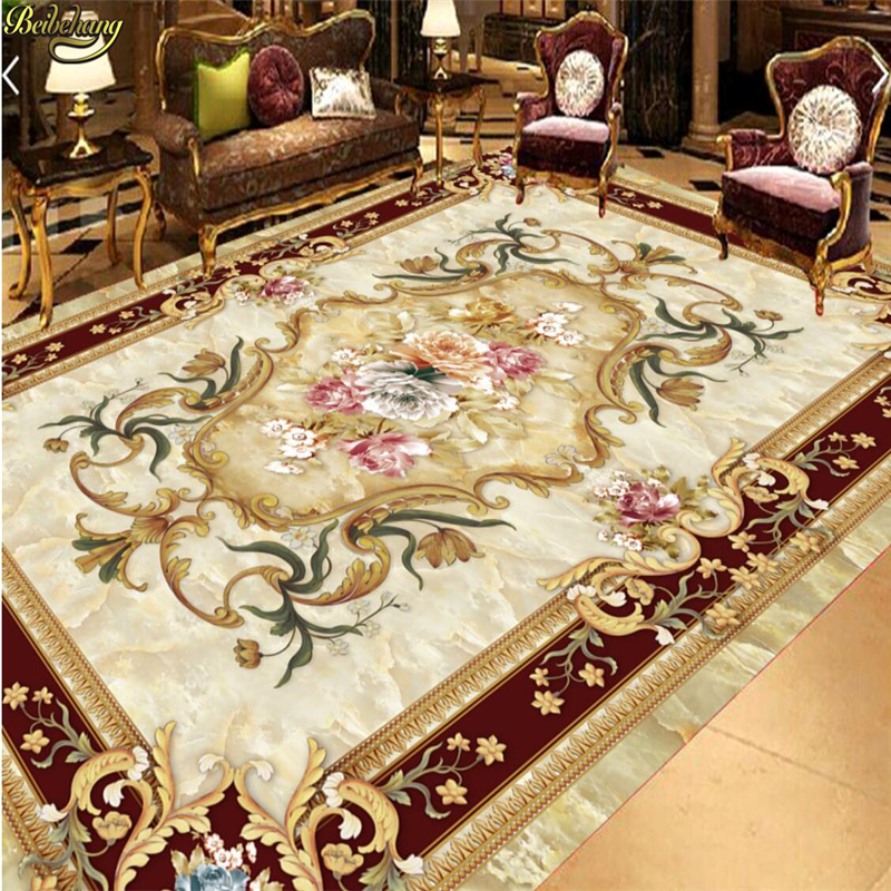 beibehang Custom photo self-adhesive 3D floor European style ceiling painting parquet photo wallpaper mural floor decoration