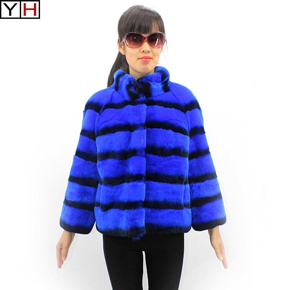 Rex Femmes Fourrure Lapin Color1 D'hiver Color2 Veste Survêtement De xvqwEwZY