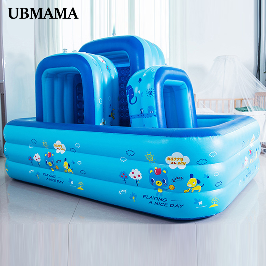 Family Swim Center Plastic Material Inflatable Bubble Bottom Drain Hole Pool Children's Inflatable Pool