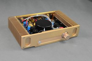 Upgraded version Hood 1969 ON 15024/15025 Gold seal power tube class A 18W + 18W hifi fever amplifier finished