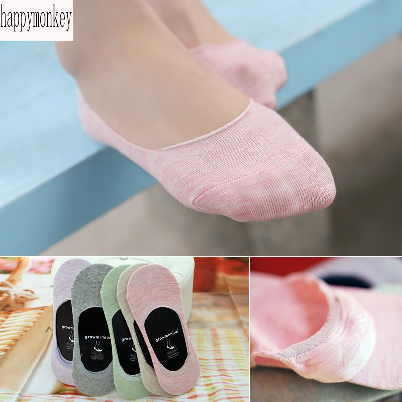 10 pieces=5 pairs new spring and summer of 2016 Ms new colored contact women socks slippers classic