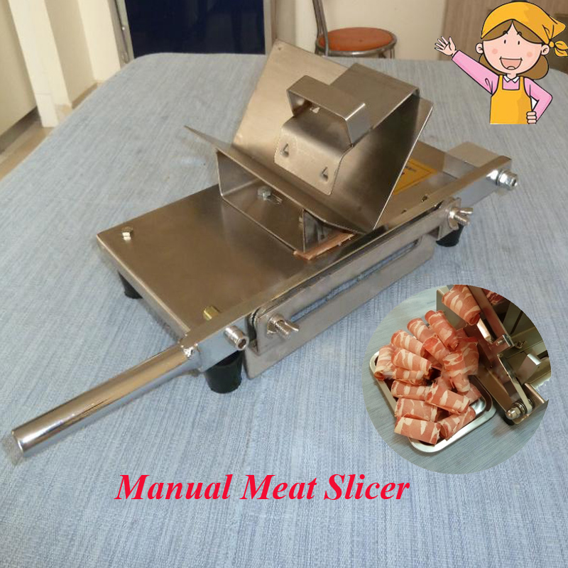 Mini Meat Slicer Manual Household Mutton Roll Making Machine, Beef, Lamb Slicer 1pc manual meat cutting machine household mutton roll slicer food processor stall fed meat slicer