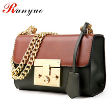 2016 New Chain Strap Women Bag PU Leather Woman Messenger Bags Crossbody Designer Ladies Fashion Panelled Women Messenger Bags