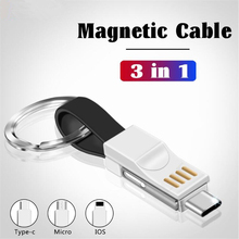 Oppselve Magnetic Micro USB Cable For iPhone Samsung Type-c Fast Charging Keychain Charger Adapter Type C Mobile Phone