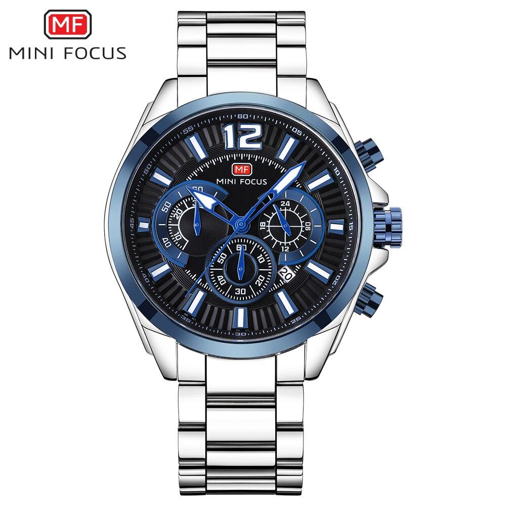 45fd6a78fa9a Cheap MINIFOCUS edificio multifunción hombres reloj deportivo elegante  negocio del acero inoxidable del reloj del cuarzo
