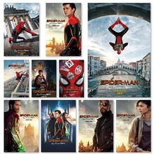 Spider-Man: Far From Home poster Marvel Superhero Posters and Prints Pictures for Bed Room Decor Silk Wall Art