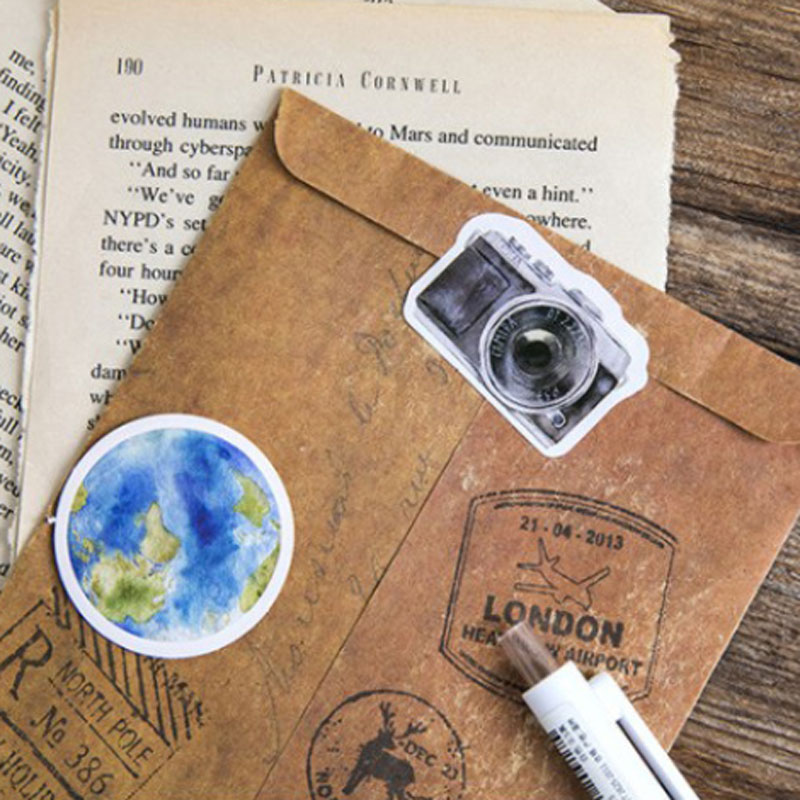Купить с кэшбэком 46 pcs/Set One Person Travel Planner Stickers Scrapbooking Journal Stickers Cute Kawaii DIY Decoration Diary Stationery