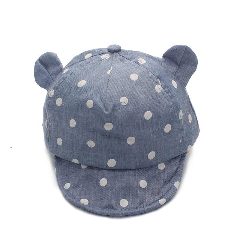 Dot Baby Caps New Girl Boys Cap Summer Hats For Boy Infant Sun Hat With Ear 2017 Sunscreen Baby Girl Hat Spring Baby Accessories (8)