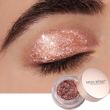 Cosmetics 2019 miss rose Glitter Eye Shadow Makeup Shining Diamond Pressed Pigment Nude Rose Gold Shimmer Eyeshadow 03 nude rose page 2