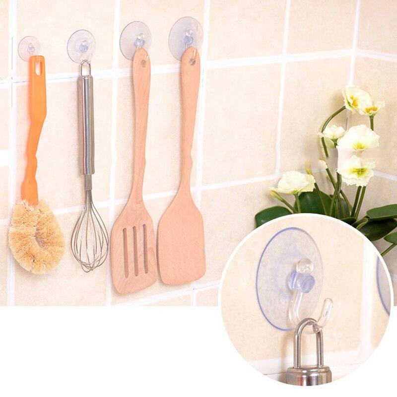 10 Pz/set Potente Ventosa Gancio Bagno Trasparente Accessori Per la Cucina Ganci10 Pz/set Potente Ventosa Gancio Bagno Trasparente Accessori Per la Cucina Ganci