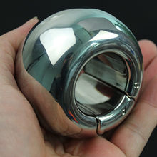 Stainless Steel Scrotal Weight Bearing, Ball Shape Scrotal Pendant, Iron Crotch Cover, Penis Exercising Apparatus Sex Toys B201(China)