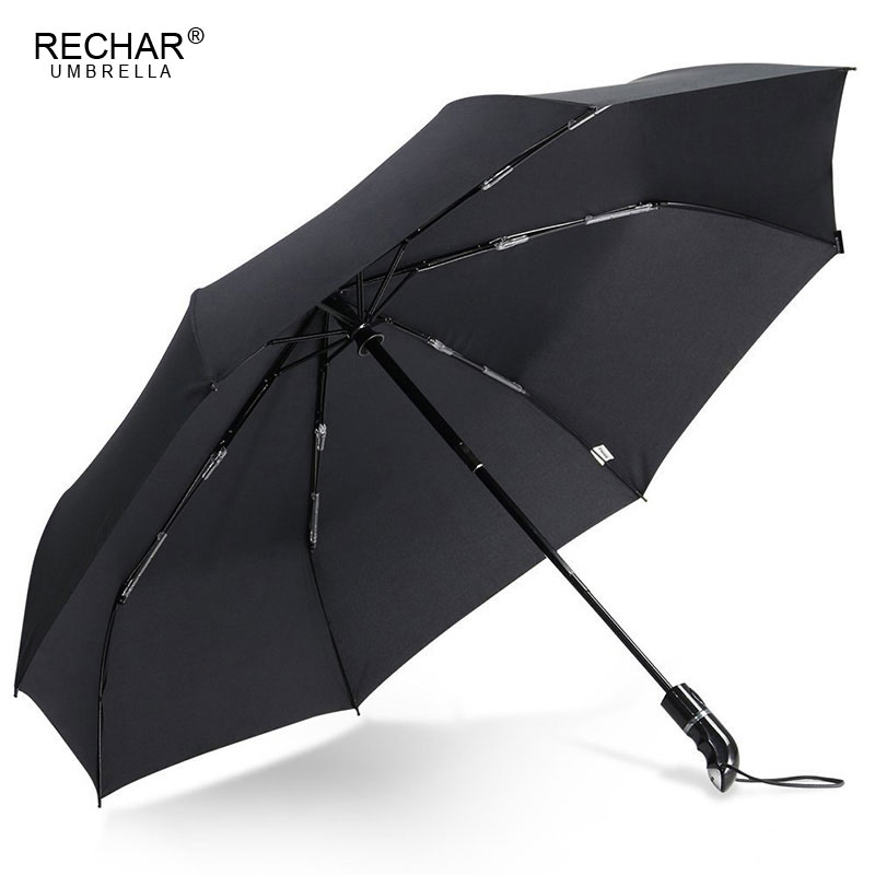 Rechar Brand Wind Resistant Quality Umbrella Men 3fold Automatic