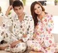 Novas pijama casal sleepwear inverno de algodão de mangas compridas pijama terno para homens mulheres ml XL 2XL